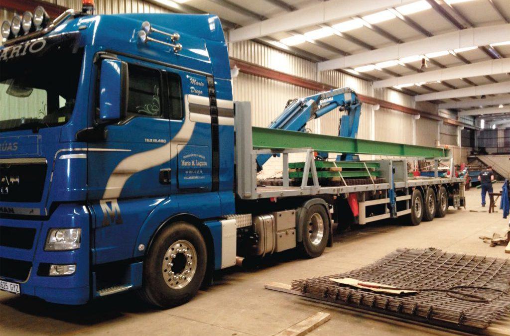 Traslado de nueva báscula de pesaje para camiones a medida